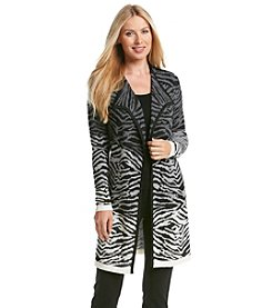 Laura Ashley® Ombre Zebra Cardigan