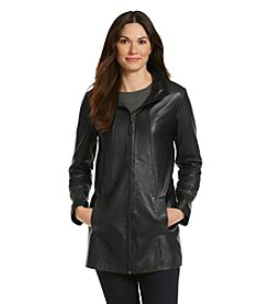 1 Madison® Zipfront Leather Coat
