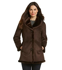 1 Madison® Short Faux Shearling Coat