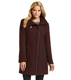 Calvin Klein Asymmetric Zipfront Boucle Coat