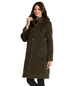 Jones New York® Single-Breasted Raglan Sleeve A-Line Coat