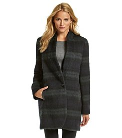MICHAEL Michael Kors® Notch Collar Plaid Boyfriend Coat