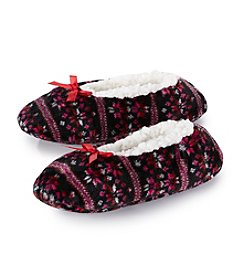 Fuzzy Babba® Snowflake Slipper Socks