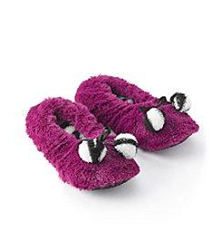 Fuzzy Babba® Zebra Furry Slippers