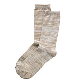 Relativity® Space Dye Crew Socks