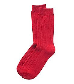 Relativity® Poor Boy Ribbed Socks