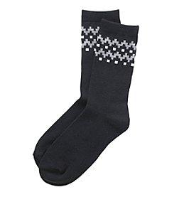 Relativity® Fair Isle Crew Socks