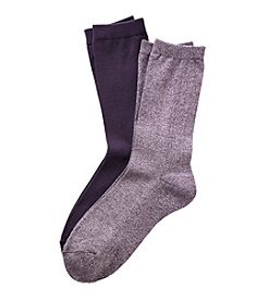 Relativity® Flat Knit Heathered Socks