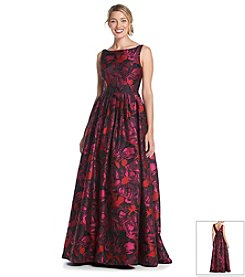 Adrianna Papell® Floral Jacquard Ball Gown