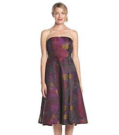 Adrianna Papell® Floral Tea Length Dress