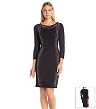 Calvin Klein Embellished Sweater Dress