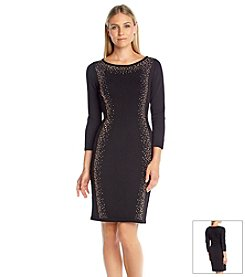 Calvin Klein Embellished Sweater Dress
