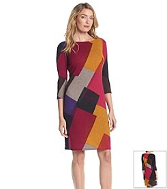 Nine West® Colorblocked Sheath Dress