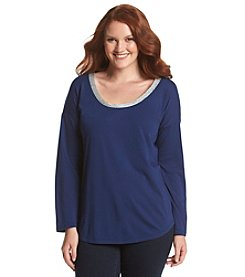 MICHAEL Michael Kors® Plus Size Metallic Trim Top