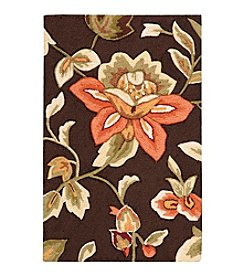 Nourison Fantasy Chocolate Floral Area Rug