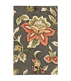 Nourison Fantasy Grey Floral Area Rug