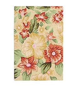 Nourison Fantasy Cream Floral Area Rug