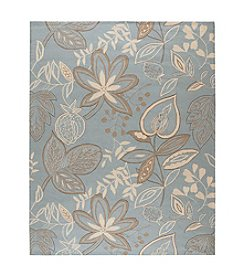 Nourison Fantasy Light Blue Floral Area Rug
