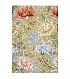 Nourison Fantasy Slate Floral Area Rug