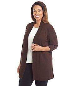 Laura Ashley® Plus Size Solid Cardigan