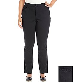 Laura Ashley® Plus Size Straight Leg Jeans