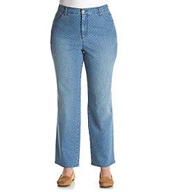 Gloria Vanderbilt® Plus Size Amanda Island Discharge Print Jeans