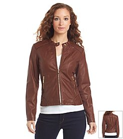 Ivanka Trump® Faux Leather Moto Jacket