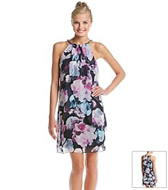 Jessica Simpson Floral Chain Neck Dress