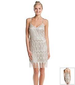 Jessica Simpson Lace Fitted Dress