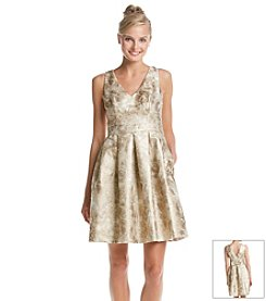 Jessica Simpson Brocade Fit And Flare Dress