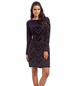 Vince Camuto® Burnout Velvet Dress