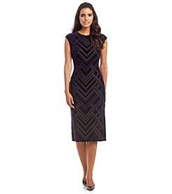 Vince Camuto® Burnout Velvet Sheath Dress