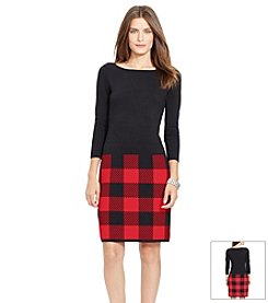 Lauren Ralph Lauren® Checked Sweater Dress