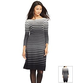 Lauren Ralph Lauren® Gradient-Striped Sweater Dress