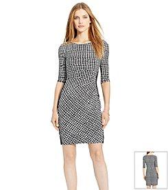 Lauren Ralph Lauren® Houndstooth Jersey Dress