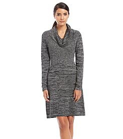 Relativity® Ribbed Cowlneck Spacedye Dress