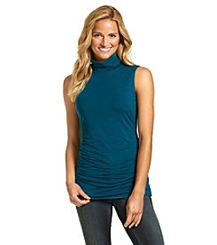 ruff hewn GREY Ruched Turtleneck