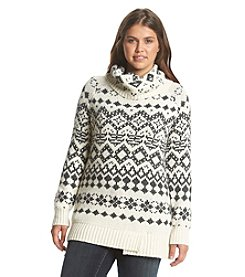 Ruff Hewn Plus Size Fair Isle Yoke Tunic