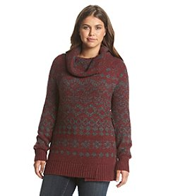 Ruff Hewn® Plus Size Fair Isle Yoke Tunic