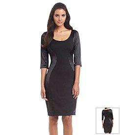 Sangria™ Contour Panel Scuba Dress