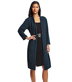 Connected® Two Piece Belted Sweater Dress