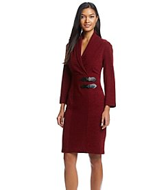 Connected® Buckle Sweater Dress