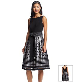 S.L. Fashions Polka Dot Party Dress