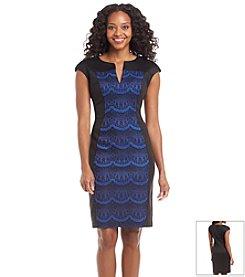 Connected® Petites' Patterned Scuba Dress