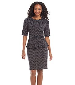 Connected® Petites' Ponte Belt Sheath Dress