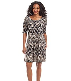 Connected® Petites' Printed Shift Dress