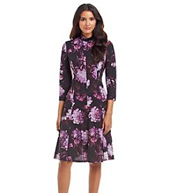 London Times® Petites' Floral Knit Dress