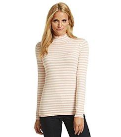 Calvin Klein Stripe Mockneck Sweater