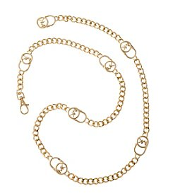 MICHAEL Michael Kors® Signature Lock Chainlink Belt