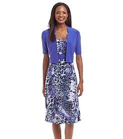 Perceptions® Printed Bolero Dress